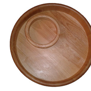 Other - Circular Brown Round wooden Serving dish